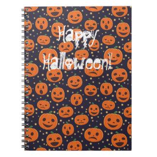 Halloween-Kürbis-Muster-Kürbislaterne festlich Notizblock