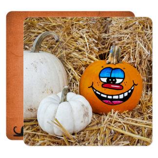 Halloween-Kürbis-Party Quadratische 13,3 Cm Einladungskarte