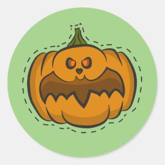 Halloween-Kürbis Runder Aufkleber