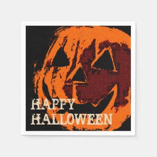 Halloween-Kürbis - Schmutzart + Ihre Ideen Servietten