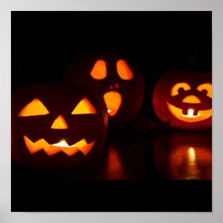 Halloween-Kürbis-Schrecken Poster