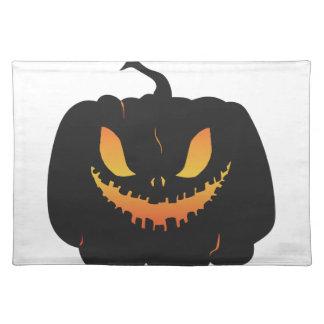 Halloween-Kürbis Stofftischset