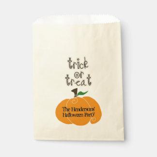 Halloween-Kürbis-Trick oder Leckerei Geschenktütchen