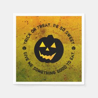 Halloween-Kürbis-Trick-oder Servietten