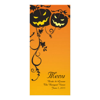 Halloween-Kürbise, die Menü-Karten Wedding sind Werbekarte