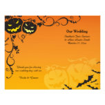 Halloween-Kürbise, die Programme Wedding sind 21,6 X 27,9 Cm Flyer