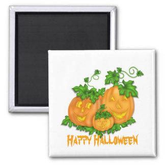 Halloween-Kürbise Quadratischer Magnet
