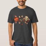 Halloween-Kürbiskatzenschädel Vintag Hemd