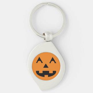Halloween-Kürbislaterne-Kürbis-Gesicht Schlüsselanhänger