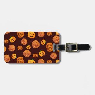 Halloween-Kürbislaterne-Kürbis-Muster Gepäckanhänger