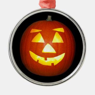 Halloween-Kürbislaterne-Kürbis Silbernes Ornament
