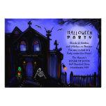Halloween laden - Spuk Haus-Halloween-Party ein Personalisierte Einladung