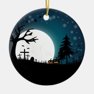 Halloween-Landschaft Keramik Ornament