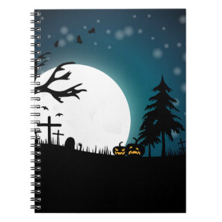 Halloween-Landschaft Spiral Notizblock