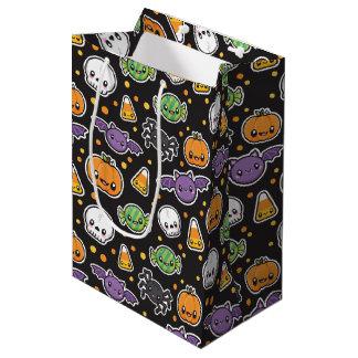 Halloween-Leckereimuster-Geschenktasche Mittlere Geschenktüte