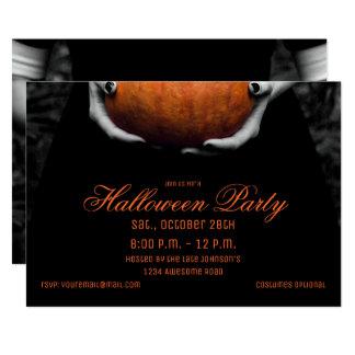 Halloween-Mädchen mit Kürbis-Einladung 12,7 X 17,8 Cm Einladungskarte