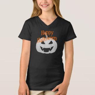 Halloween-Mädchen V - Hals T - Shirt
