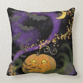 Halloween-Magie - Reversible! Kürbis u. Schläger Kissen