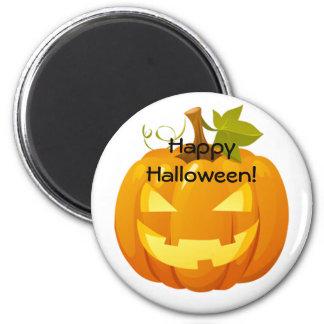Halloween-Magnet mit einer Kürbislaterne Runder Magnet 5,7 Cm