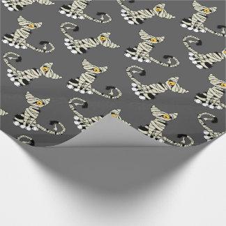 Halloween-Mama-Katzen-Muster Geschenkpapier