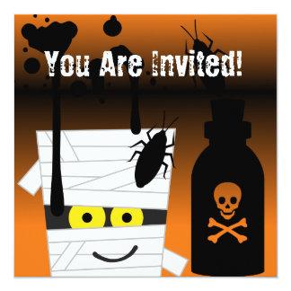 Halloween-Mama-Party Einladung Karte