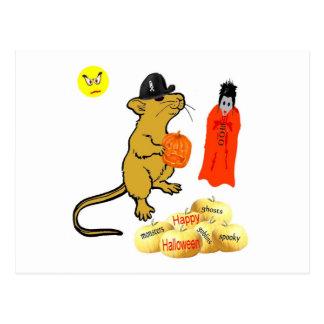 Halloween-Mäusepostkarte Postkarte