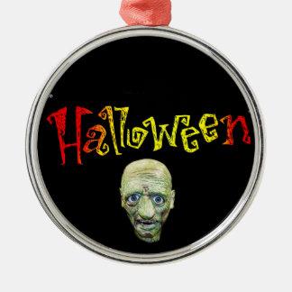 Halloween-Metallverzierung Silbernes Ornament