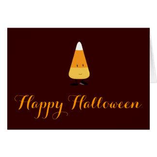 Halloween mit lächelndem Süßigkeits-Mais Karte