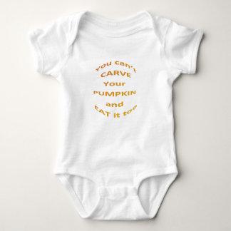Halloween-Mitteilung Baby Strampler