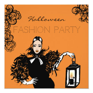 Halloween-Modeillustration mit Laterne Karte