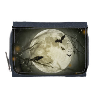 Halloween-Mond-gespenstische Krähen