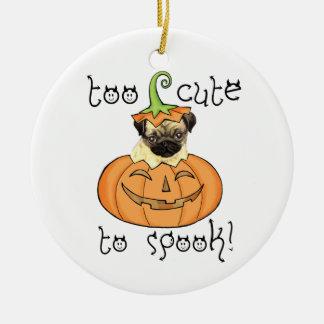 Halloween-Mops Keramik Ornament