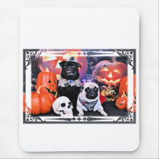 Halloween - Mops - Ruffy und Lola Mousepad
