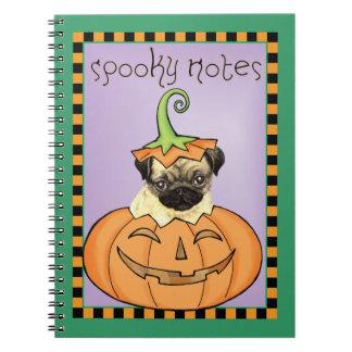 Halloween-Mops Spiral Notizblock
