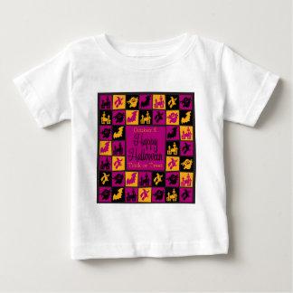 Halloween-Mosaik Baby T-shirt