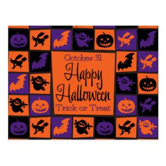 Halloween-Mosaik Postkarte