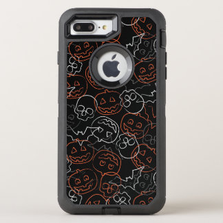 Halloween-Muster OtterBox Defender iPhone 8 Plus/7 Plus Hülle