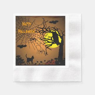 Halloween-Nacht, glückliches Halloween! Serviette