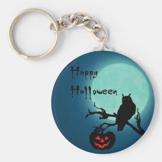 Halloween-Nachtkürbis-Eule - Keychain Schlüsselanhänger