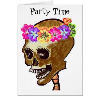 Halloween oder Tag der toten Schädel-Einladungen Karte