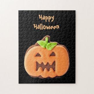 Halloween-Orangenkürbis Puzzle