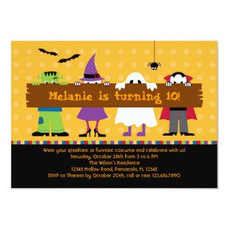 Halloween-Parade-Kostüm-Geburtstags-Party Karte