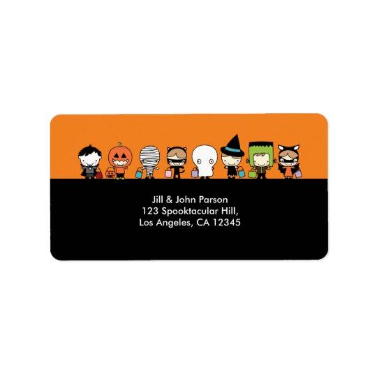 Halloween-Party-Adressen-Etikett Adressetiketten