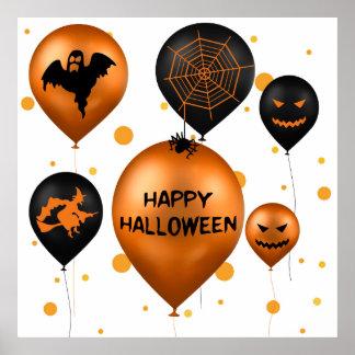 Halloween-Party-Ballone - Plakat