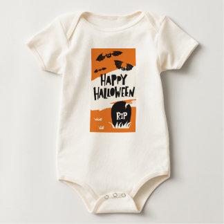 Halloween-Party-Druck - Schläger und Friedhof RIP Baby Strampler