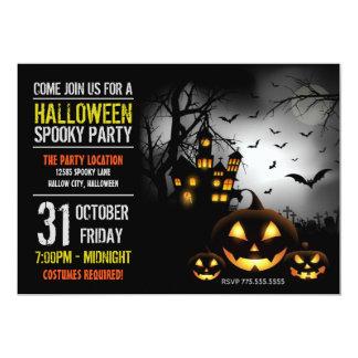 Halloween-Party-Einladung Karte
