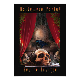Halloween-Party-Einladung - Raben-Höhle 12,7 X 17,8 Cm Einladungskarte