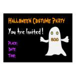 Halloween-Party - Einladung Visitenkarten Vorlage