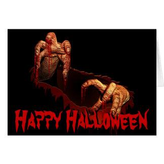 Halloween-Party-Einladungs-Zombie-kundenspezifisch Grußkarten