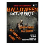 Halloween-Party-Ereignis-Mitteilung DJ SCHLAGEN Vollfarbige Flyer